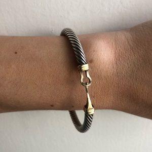 David Yurman Cable Buckle Bracelet with 14k gold